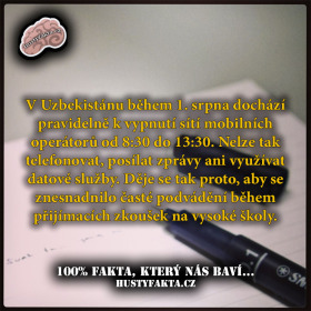 Uzbecký student to nemá lehké…